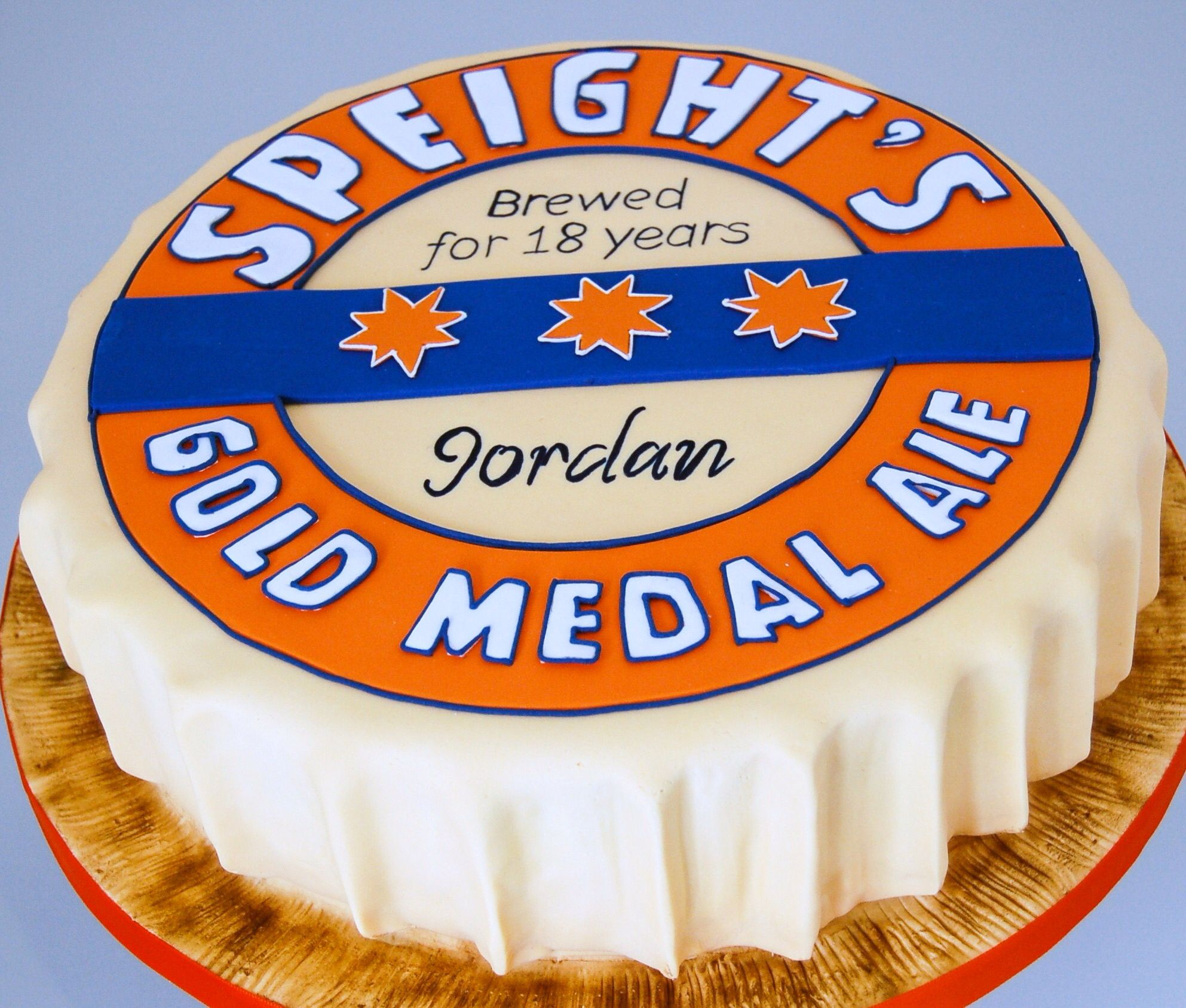 Gold medal birthday cake