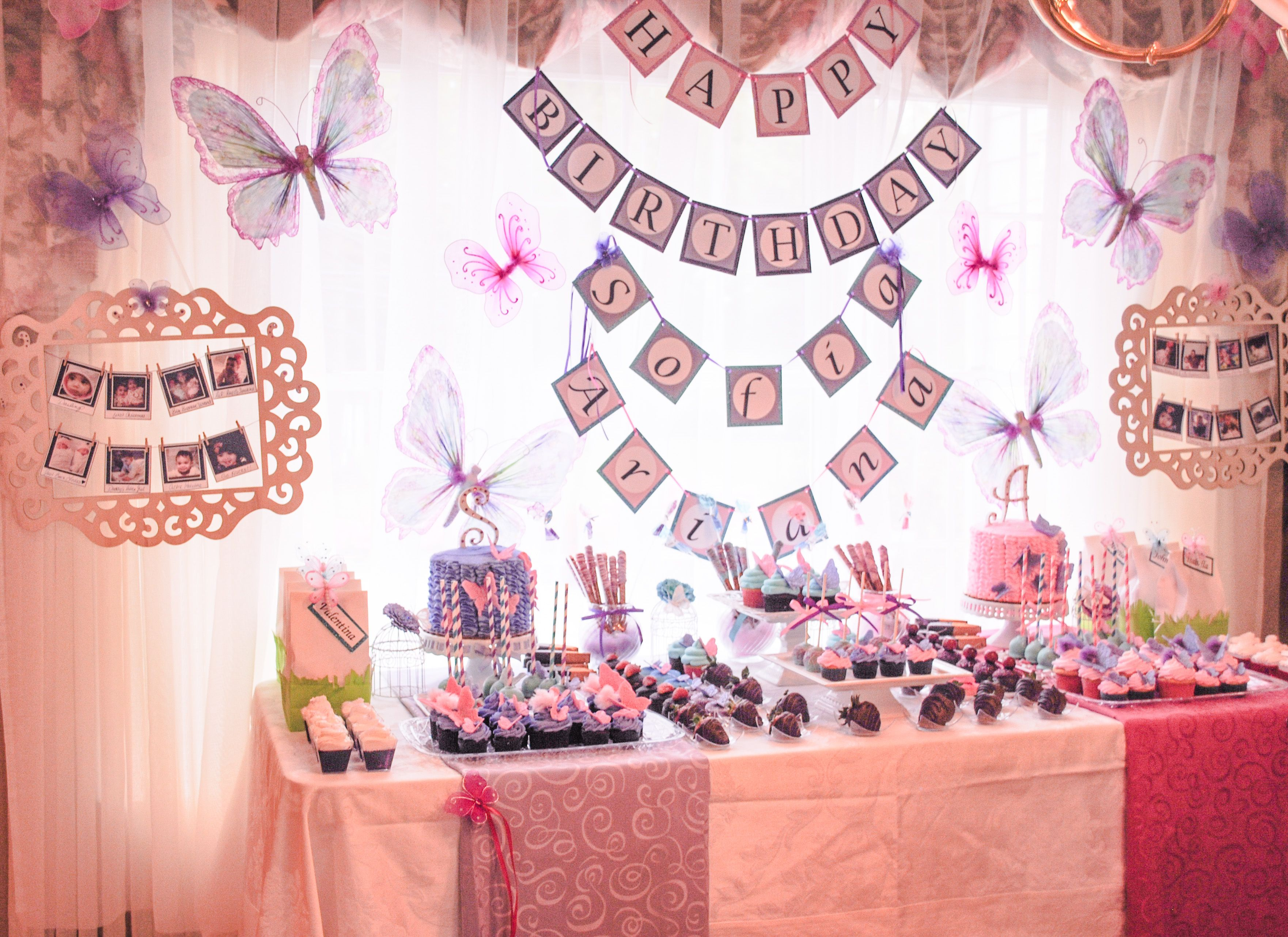 Butterfly Theme 1st Birthday Party twins By La Chic Treat
