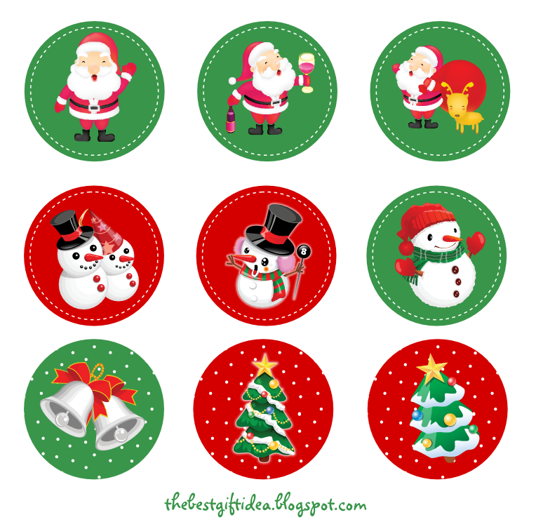 photo regarding Printable Christmas Stickers identified as Free of charge Printable: Santa Claus Reindeer Cupcake Topper Free of charge