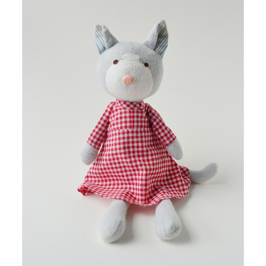 """Hazel Village """"Gracie Cat"""" Toy - $44.00  If you ask Gracie what her favorite activity is, she will tell you: fishing. She has loved it ever since she was a kitten. She says on a good afternoon, she can catch a dozen minnows."""