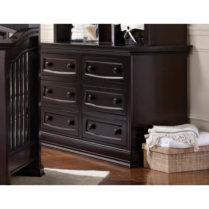 Leseed Baby Davenport Collection Espresso Double Dresser From Its Mive Surface Dimensions To