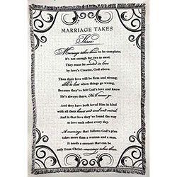 Title: Blanket - Cotton Throw 52 X 68 - Marriage data-pin-do=