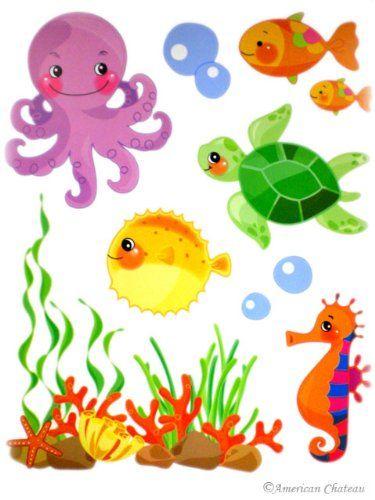 Tiere Basteln Unterwasserwelt Schone Bilder Ozean Thematische Handwerk Kinderzimmer Drawing Meer Wandgemalde Wandbilder Clipart
