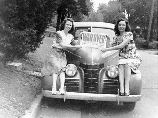Millions of happy women waiting on their men to return home… so began the Baby Boom.