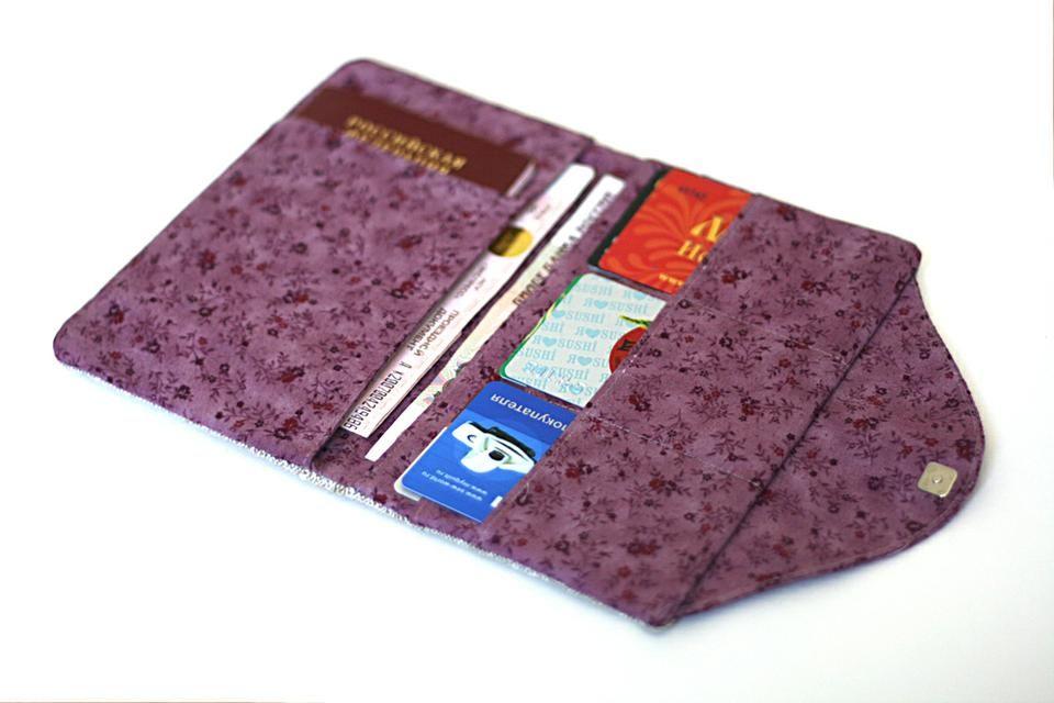 2ffd6983ba02 Fabric bag DIY tutorial текстильный холдер для документов своими руками  кошелек мастер класс