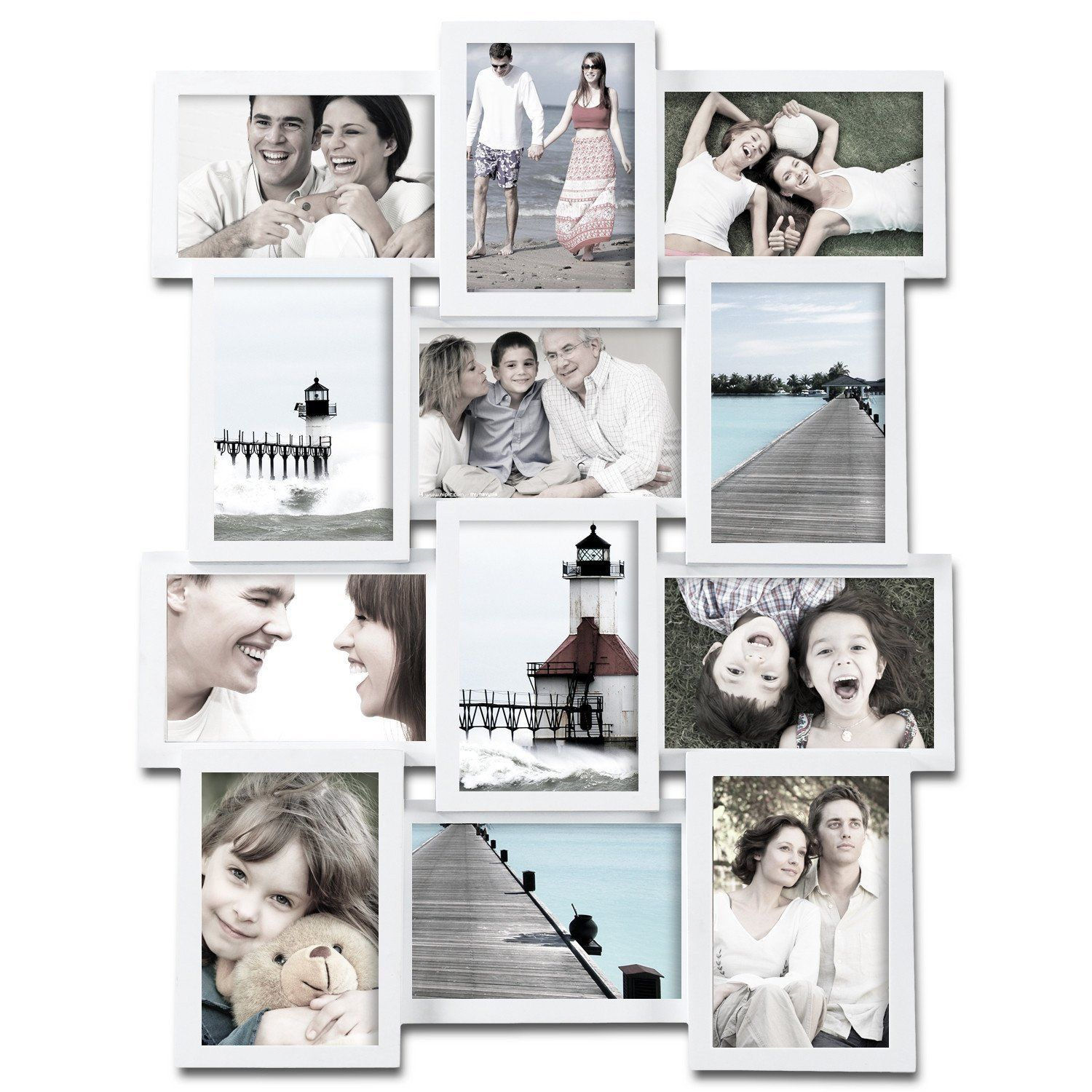 12 Photo Display Collage Wall Frame | Pinterest
