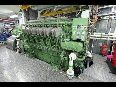 ABC V12 Diesel Engine Startup - Tugboat 7200hp | HIT & MISS
