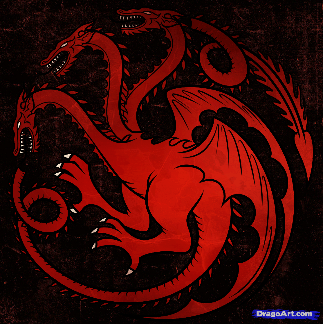 How To Draw House Targaryen House Targaryen Dragon House Drawing Drawings Mythical Creatures Art