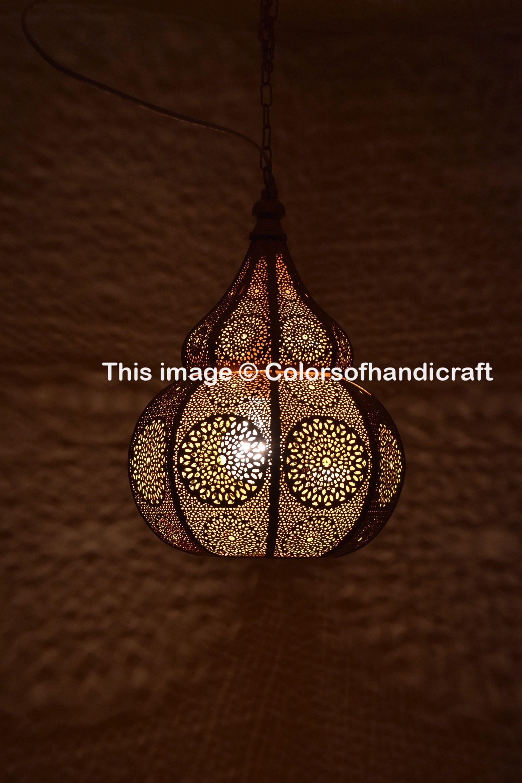 Indian Pendant Lighting Hanging Ceiling Metal Decor Moroccan Etsy Antique Light Fixtures Ceiling Pendant Lights Hanging Light Fixtures