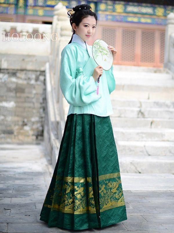 74982c910b Dresses Ancient china clothing Women Hanfu Jacket and Skirt Outfits -   743.00