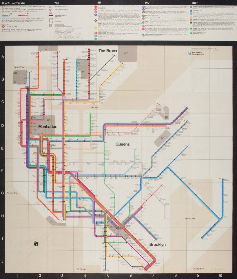 How To Design A Subway Map.Design Vignelli Design Massimo Vignelli Subway Map Nyc Subway Map