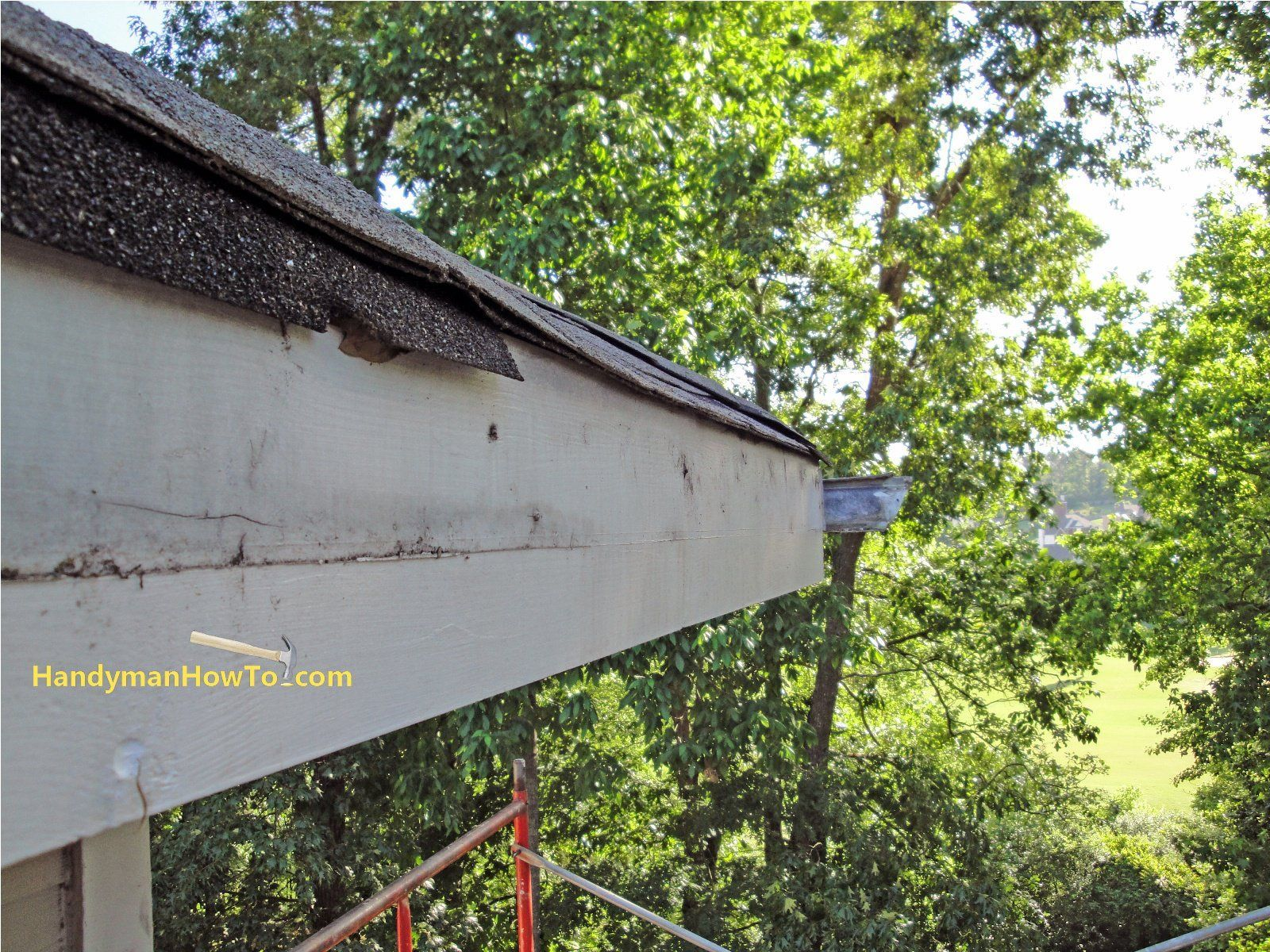 How To Repair Rotted Soffit And Fascia Install The New Soffit Roofrepairdiy Roof Repair Diy Fascia Roofing