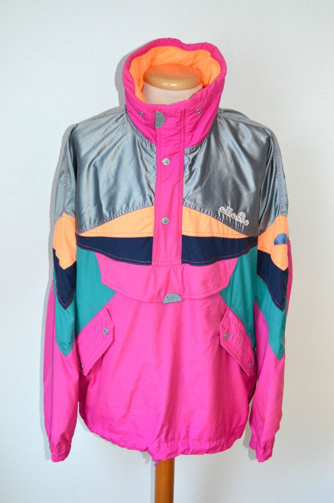 772e8e0632b vintage retro ELLESSE SKI JACKET part suit mens size XL pink neon fancy 80s  90s in Sporting Goods, Skiing & Snowboarding, Clothing, Hats & Gloves | eBay