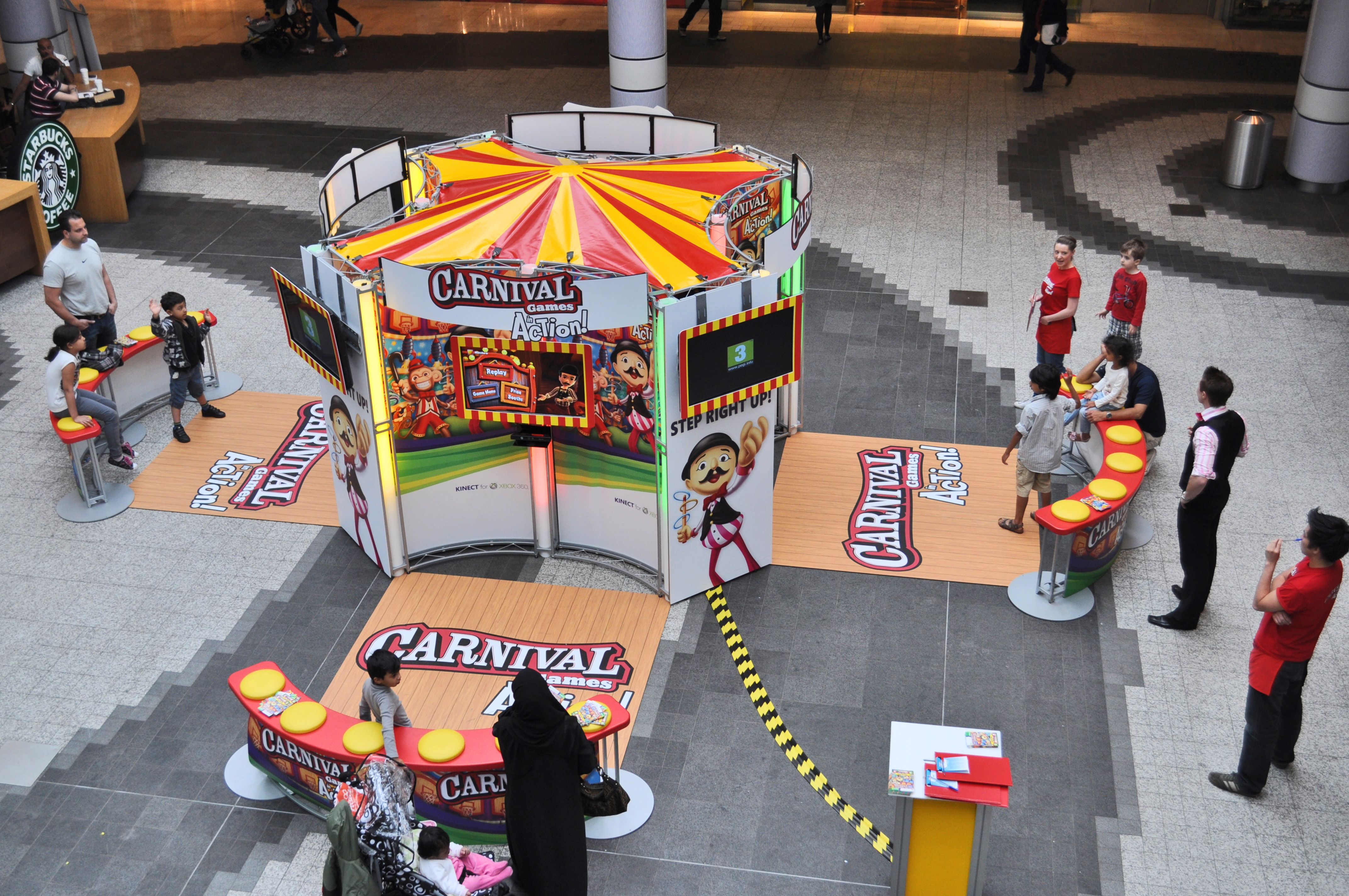 Modular Exhibition Stands Xbox : 7m x 7m exhibition stand for experiential product launch of carinval
