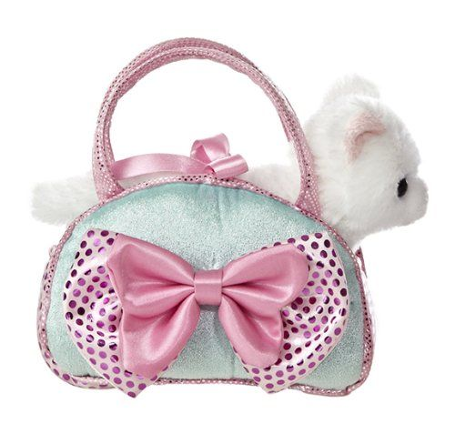 e9763b71570 Aurora World Fancy Pals Toy Pet Carrier Plush Purse, Blue Bows Aurora World  http: