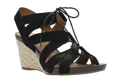 ed253fb1c95 Clarks Acina Chester - Black Suede - Womens Smart Sandals