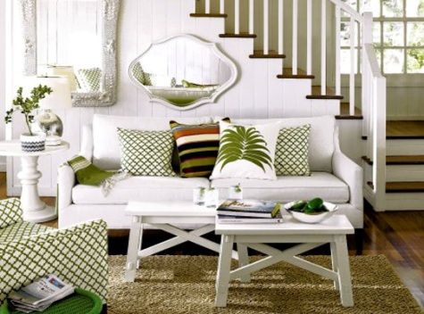 Small Living Room Decorating Ideas    Vertical Strips, Furniture Without