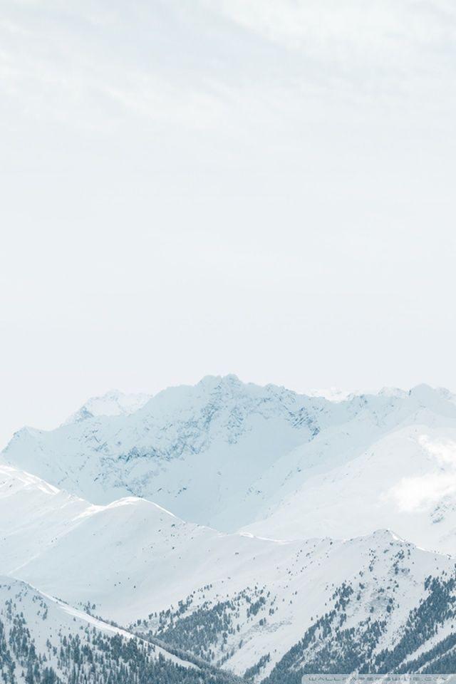 Apple Ios Snow Mountains Hd Desktop Wallpaper Widescreen High