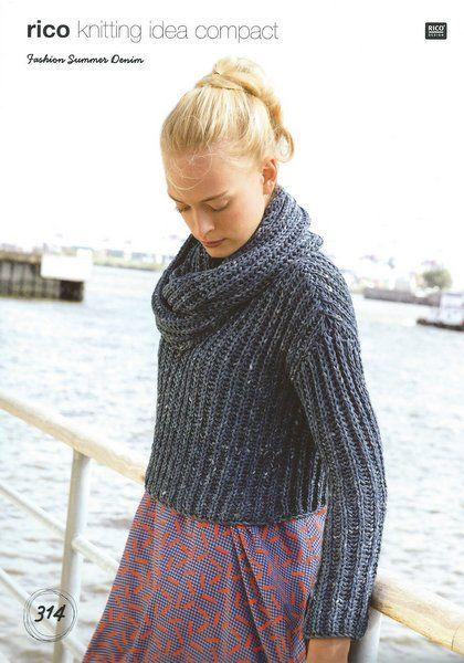 Rico Fashion Summer Denim Pattern 314 Knitting Etc Pinterest