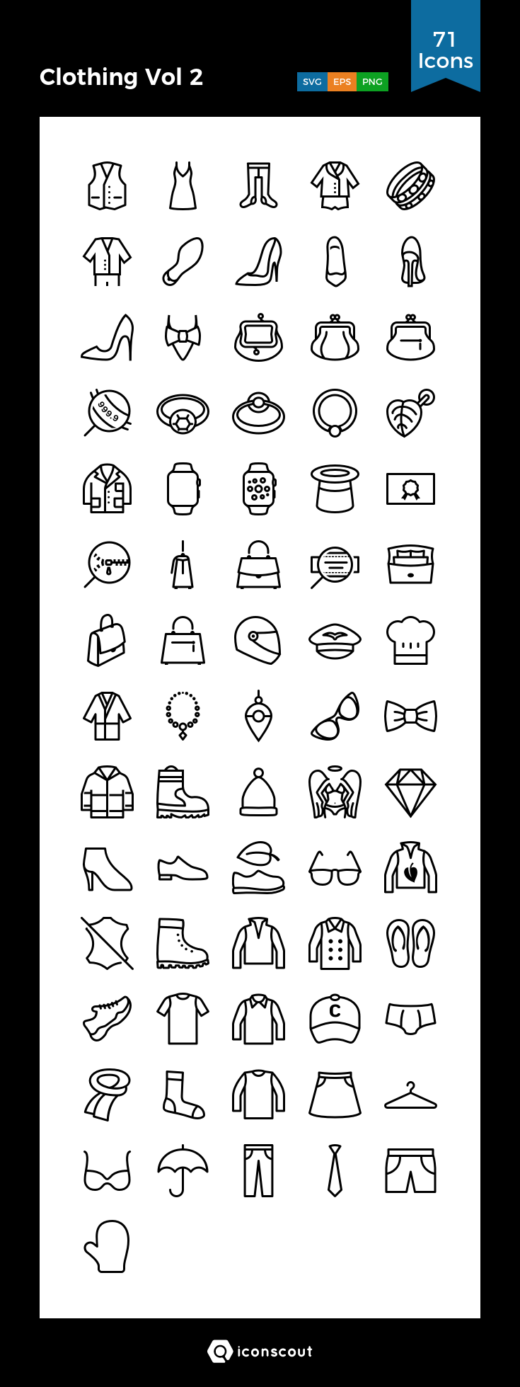 Download Clothing Vol 2 Icon Pack Available In Svg Png Eps Ai Icon Fonts Icon Sketch Notes Icon Pack
