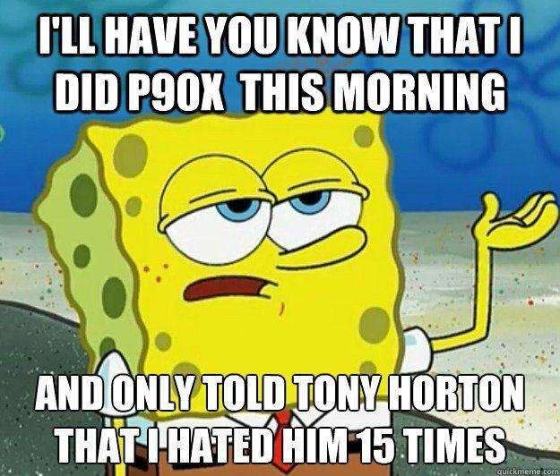 #p90x3  #horton #spongebob #exercise