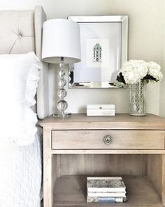 Bedroom nightstand styling. Easy ways to decorate your bedroom nightstand. Nightstand decor. #nightstanddecor #nightstand #decor