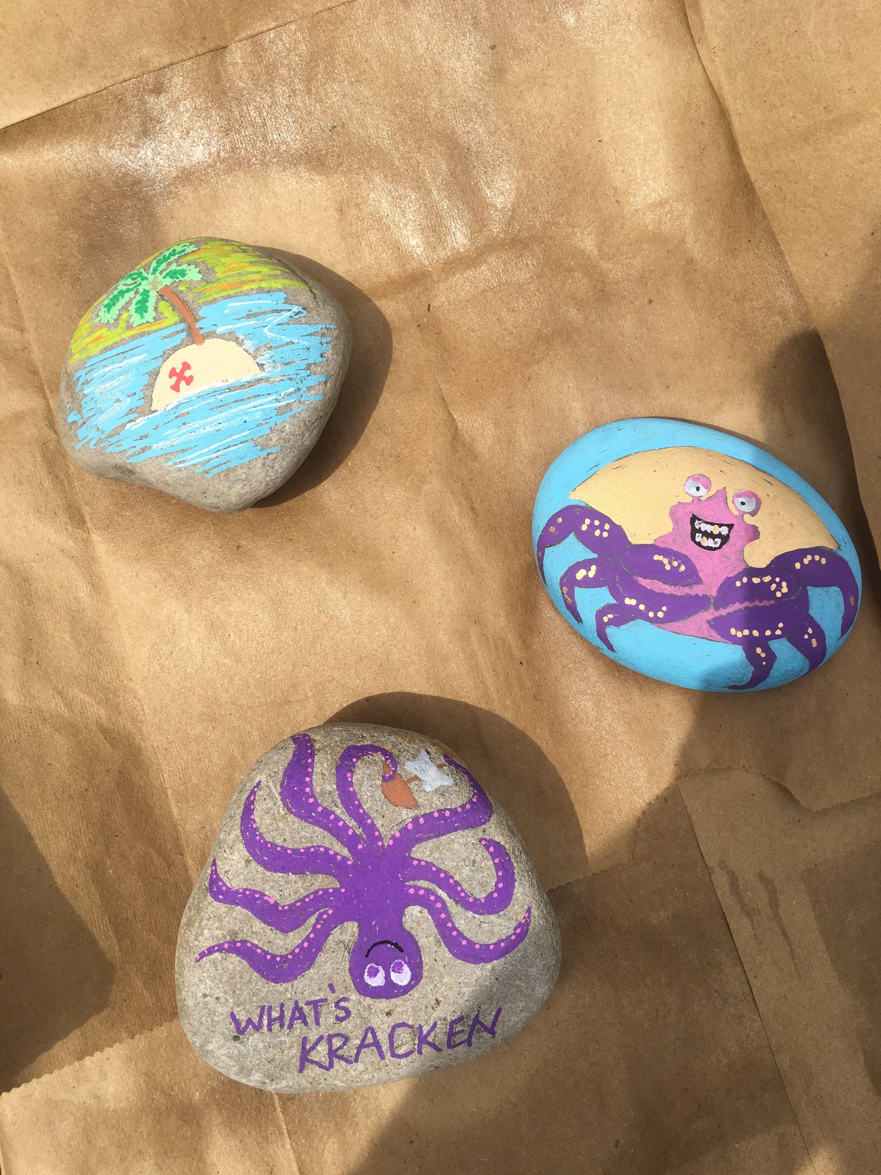 Shiny Kracken Treasure Island Paint Rocks