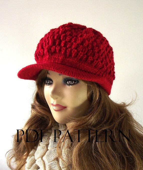 Knitting Hat Pattern Newsboy Hat Claire Newsboy Hat Pattern