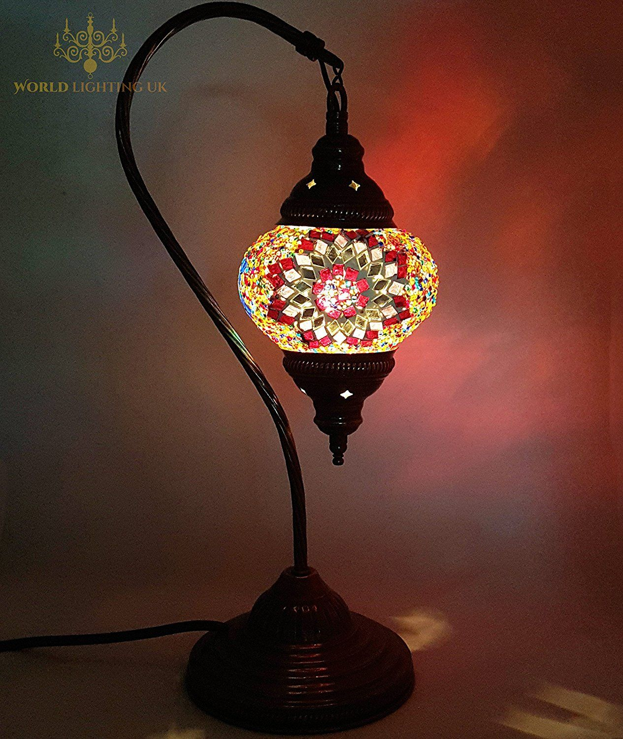 Turkish Lamps Moroccan Lamp Tiffany Style Glass Desk Table Lamps