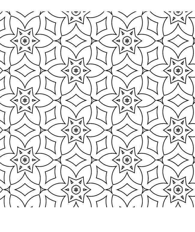 Free Coloring Painting Pages 2 Geometric Designs Pattern