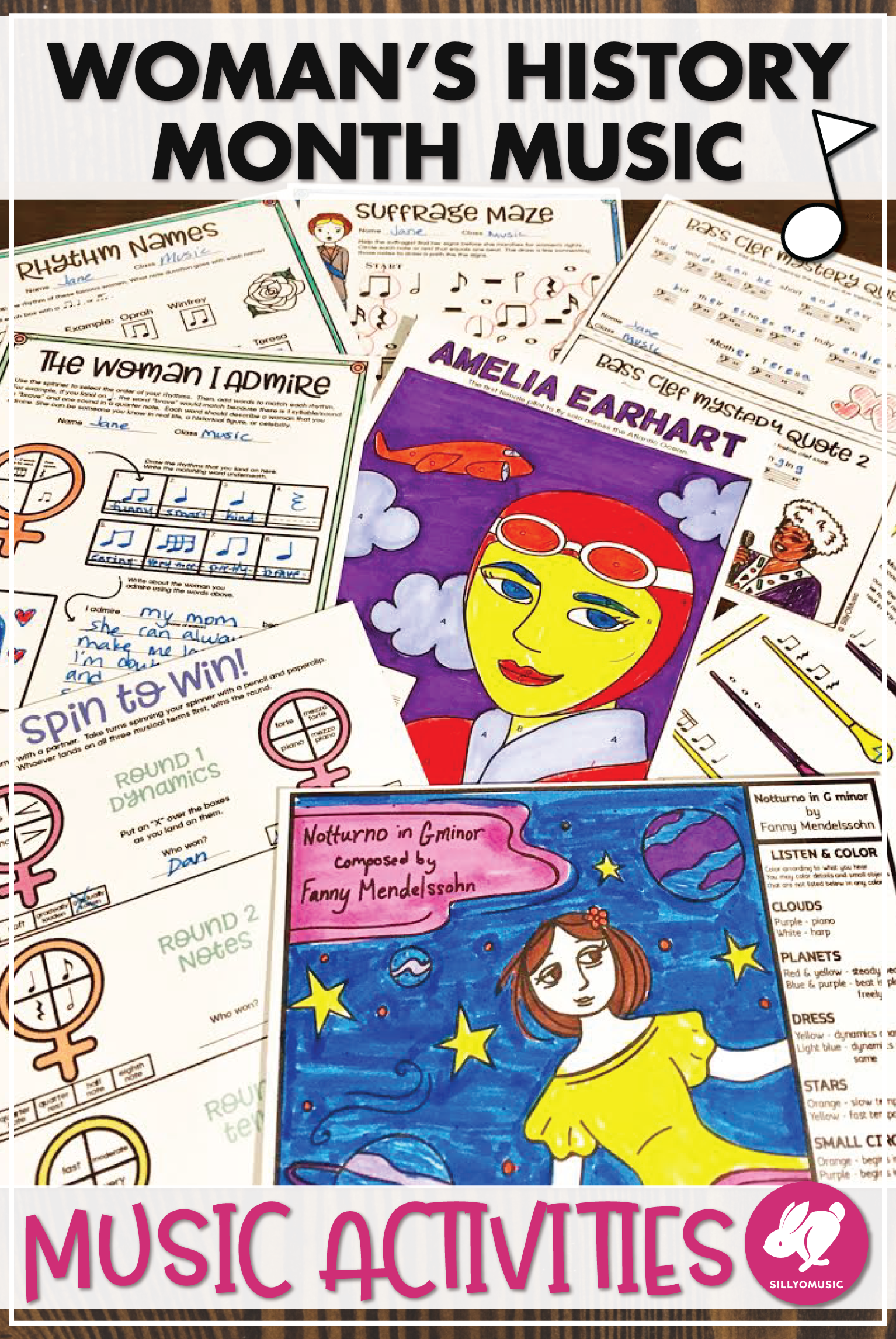 Women S History Month Music Worksheets Coloring And