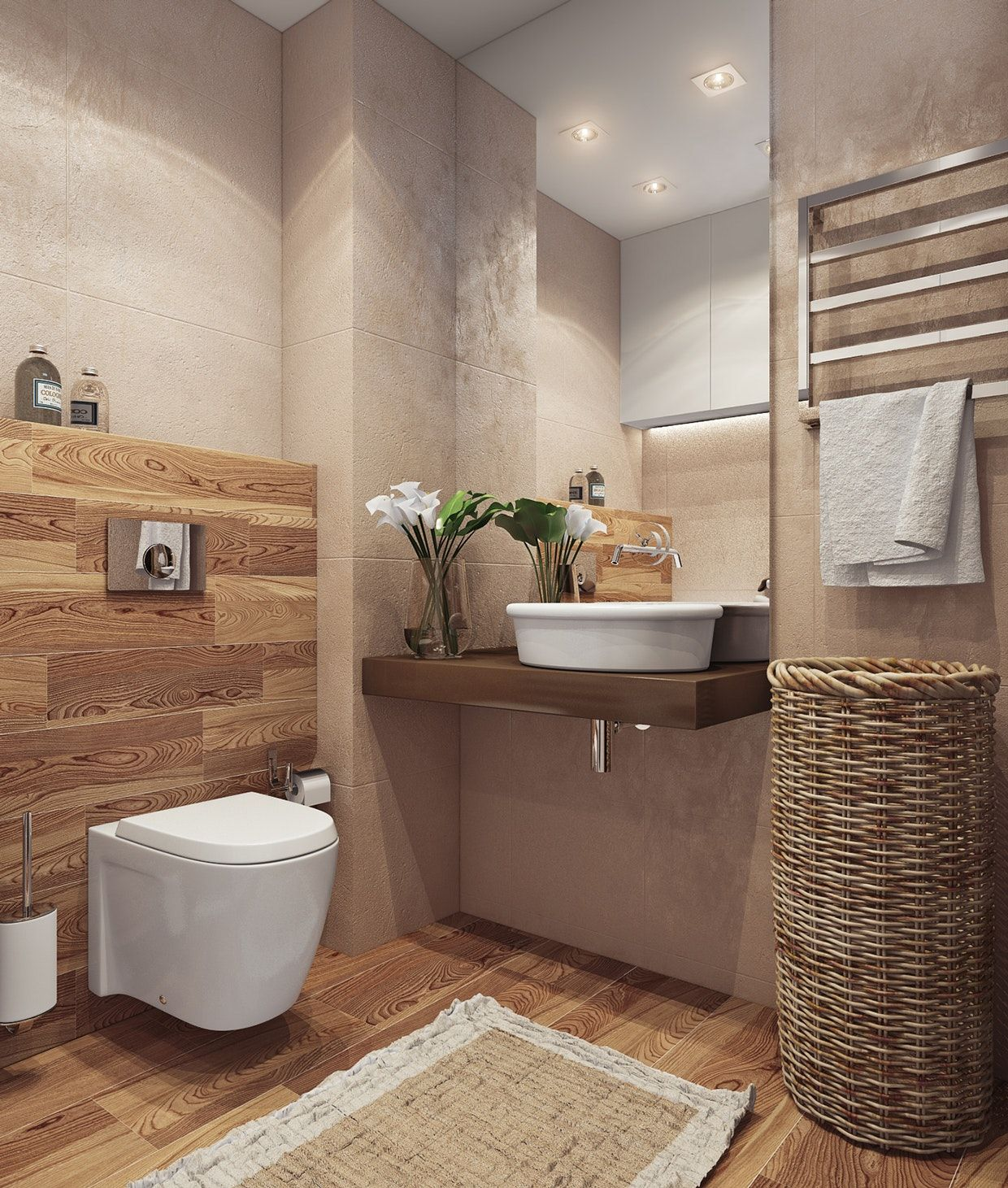 Idees De Design De Maison Contemporaine Decoration Toilettes ...