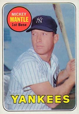 1969 Topps Mickey Mantle 500 Y Baseball Card Value Price Guide Baseball Card Values Baseball Cards Mickey Mantle