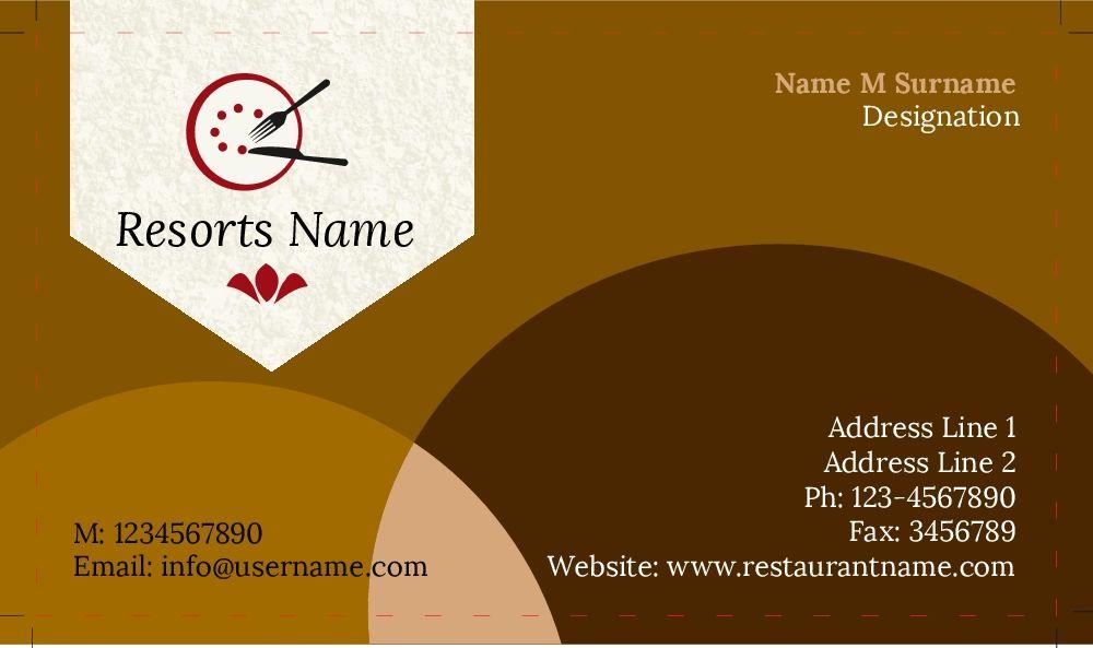 restaurants business cards Business card ideas Pinterest - visiting cards