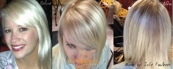 Transitioning A Client From Platinum Blonde To Natural Blonde Ammonia Free Professional Organic Hair Col Platinum Blonde Hair Platinum Blonde Natural Blondes