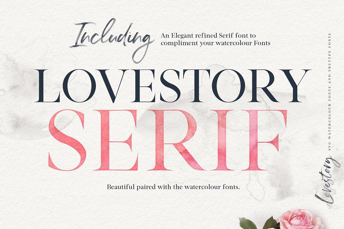 The Lovestory Font Collection Photoshop Fonts Brush Font