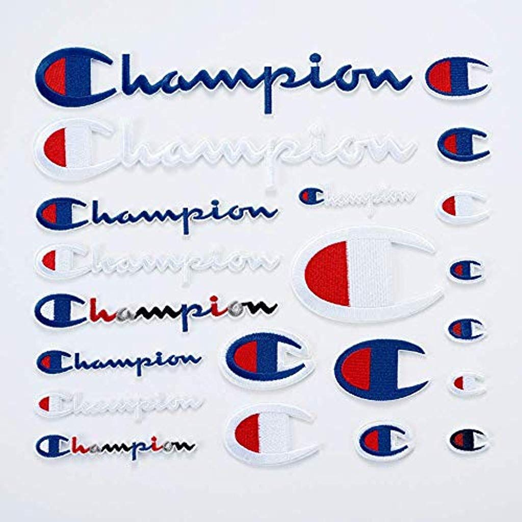 Lot Of 10 CHAMPION Brand Logo Iron//Sew-on Clothing Sports PATCHES Patch