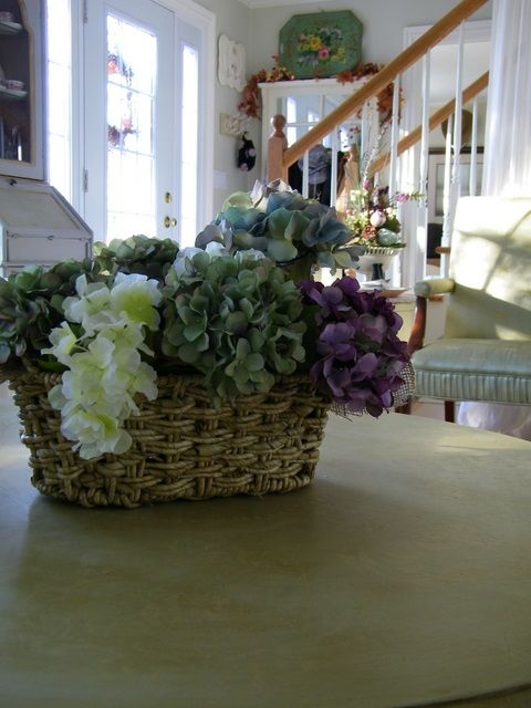 A beautiful basket of flowers.  :-)*