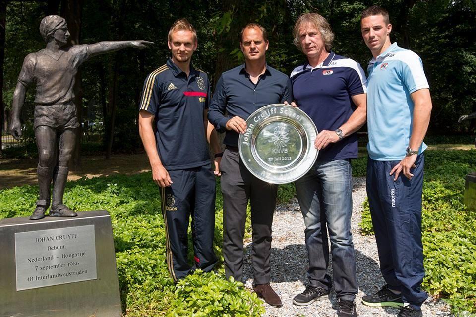 Siem de Jong, Frank de Boer, Gertjan Verbeek en Nick Viergever