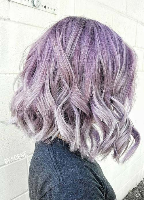 50 Lovely Purple Lavender Hair Colors In Balayage And Ombre