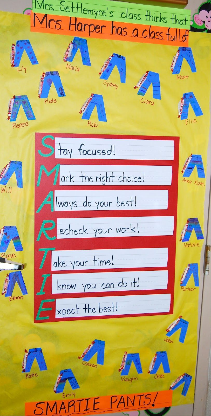 Door decoration for testing week to cheer my students on