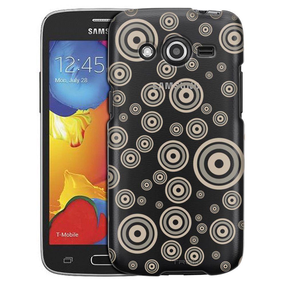 Samsung Galaxy Avant Tan Bullseye Bubbles Case