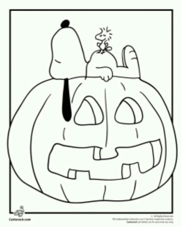 Cookie Design Decor Idea Snoopy Coloring Pages Pumpkin Coloring Pages Fall Coloring Pages
