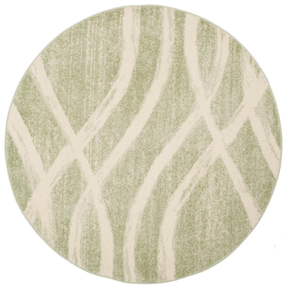 Safavieh Adirondack Sage Cream 6 Ft X 6 Ft Round Area Rug