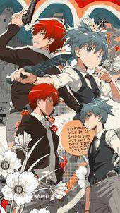 Karma And Nagisa Lockscreen Assassination Classroom S In 2020 Cute Anime Wallpaper Aesthetic Anime Haikyuu Wallpaper