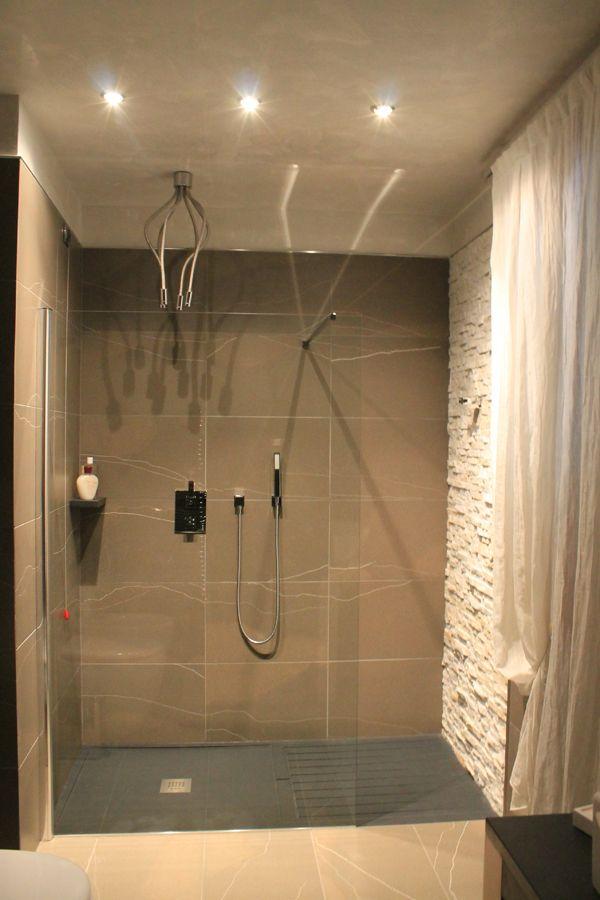 rivestimento pietra doccia Cerca con Google Bagno in