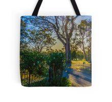 Sunset at Bullock Creek Winery - Bendigo, Victoria Tote Bag