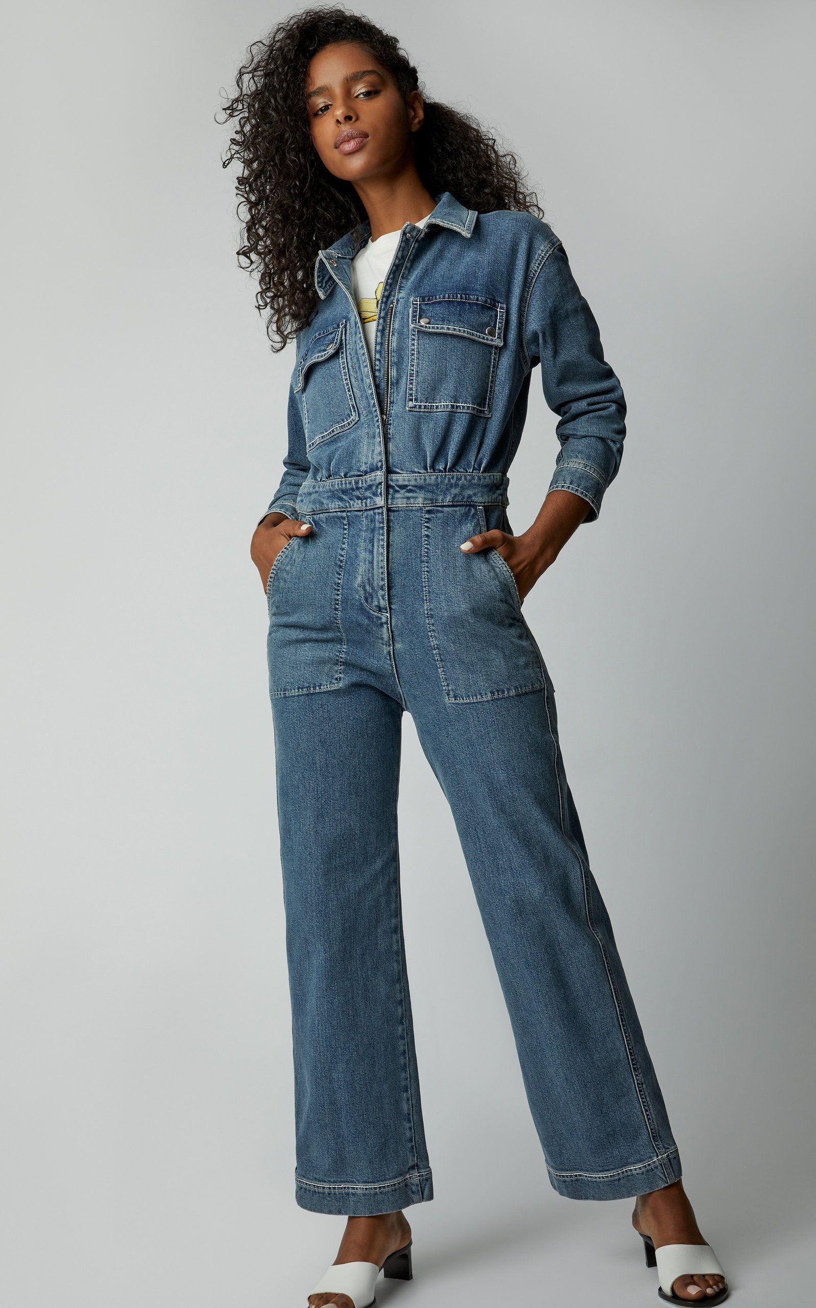 5fc30b14493 Straight-Leg Denim Jumpsuit in 2019