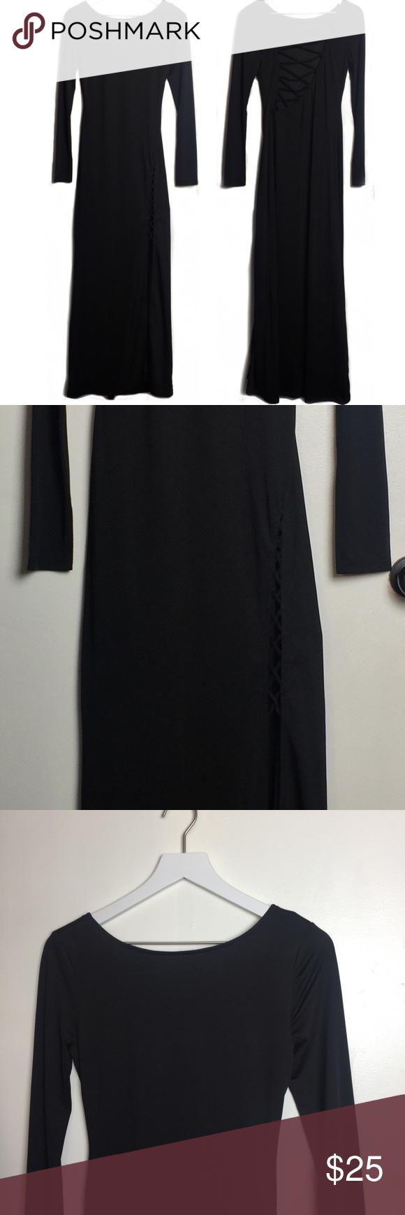 Angl nwot long sleeve cutout maxi dress my posh closet