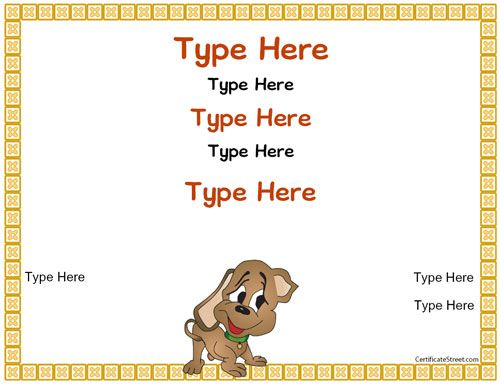 Puppy adoption certificate template google search jaxon puppy adoption certificate template google search yadclub Images